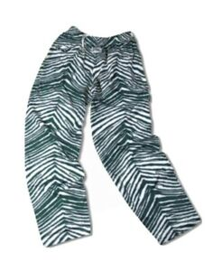 Officially Licensed NFL Men's Zebra Print Pant by Zubaz - Eagles S