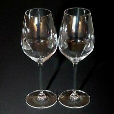 2 (Two) RIEDEL HEART to HEART Crystal Riesling Wine Glasses Lead Free-Signed