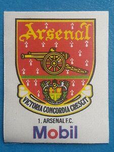 Mobil Football Club Badges Silk 1983 Arsenal