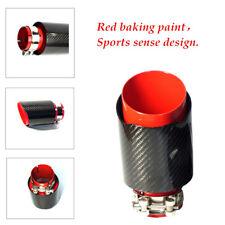 Car Exhaust Tip Muffler Pipe Red baking paint Steel Black Carbon Fiber