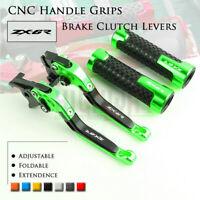 Folding Brake Clutch Levers & Handle Grips for KAWASAKI NINJA ZX6R 636 07-18