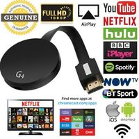 Chromecast 2 Digital HD Media Streamer Display Dongle Mirascreen Black edition Z
