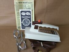 Vintage Sunbeam Mixmaster Electric Hand Mixer Five 5 Speed  03076 Almond Box