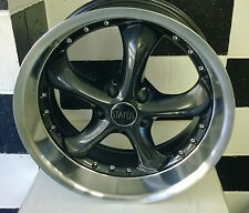 "17"" 5/114.3 OR 5/120.6  STATUS RETRO MAG WHEEL  PRE AU FORD,HQ,CHEV / USA CARS"