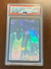 1991 Upper Deck ~  Michael Jordan #AW1 ~ Award Winner Hologram ~ PSA  8 NM-MT