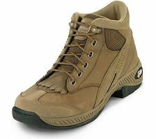 Justin Womens L0161 George Strait Bandera Series Hikers Shoes Khaki Suede 6M S