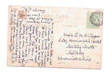 Postmark Wemyss Bay 21.5.1906 CARTE POSTALE T Buchanan lire Rocky bastions Tuck flowi
