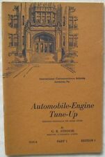 Automobile Engine Tune Up Part 1 C R Strouse 1945 Paperback