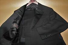 #41 CANALI Brown Label Black Two Button Tuxedo Size 40 R