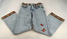 Vintage USA Made Lucky Brand 136 Low Rise Flare Pants Hippie Boho Sz 2/26