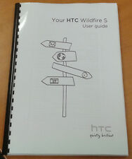HTC WILDFIRE S 186 PAGES FULL PRINTED USER MANUAL GUIDE A5