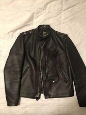 Schott jacket Cafecto Steerhide Cafe Asymmetrical Leather coat 44 603
