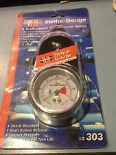 Tyre Stetho Pressure Dial Gauge Includes Carry Case Angle Head 0-60psi 0-400 kpa