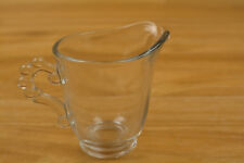 Small Glass Cream Pitcher Clear Approx. 2 1/2 Inches H x 3 1/2 Inches W