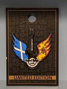 Hard Rock Cafe Edinburgh Pin 2020 Winged Flag Guitar