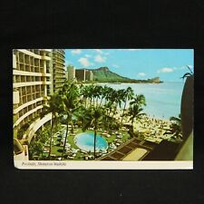 POSTCARD ''POOLSIDE, SHERATON - WAIKIKI'', HAWAII