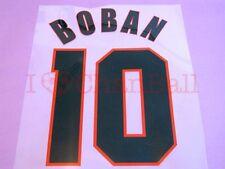 Boban #10 1999-2000 AC Milan Awaykit Nameset Printing