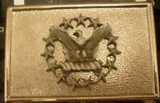 UNKNOWN NATIONAL GUARD BELT BUCKLE??????? 3 x 2 inch-SCREWBACK-MEYER MADE