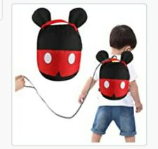 Kids Toddler Baby Cute Mickey Mouse Character Safety Harness Backpack - Red