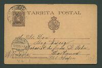 Spanien Espana 1901 Postkarte TARJETA POSTAL 10 Cs Gijon  to Germany Dortmund