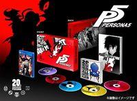 PS4 Persona 5 20th Anniversary Edition Treasure BOX Art book F/S Japan USED