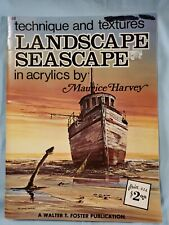 "Walter Foster ""Technique & Textures Landscape Seascape""  By Maurice Harvey #148"