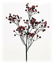 "Artificial Red Burgundy Berry Pick Set/3 Christmas Holiday Floral Home 16"" NEW"