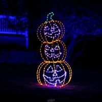 The 5' Animated Sinister Smiling Jack O' Lanterns Halloween Decoration Outdoor