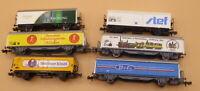Minitrix Roco, Arnold N Konvolut 6 Stück gedeckte Güterwagen gebraucht