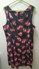 torrid black floral and polka dot cocktail dress sz 20