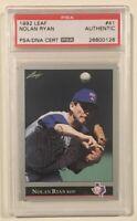 1992 Leaf NOLAN RYAN Signed Autographed Baseball Card PSA/DNA Texas Rangers