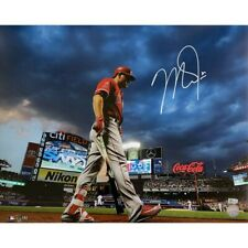 Mike Trout Los Angeles Angels Signed 16x20 Photo Citi Field MLB Authentic COA
