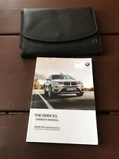 2015 BMW X3 Owners Manual With Case OEM Free Shipping