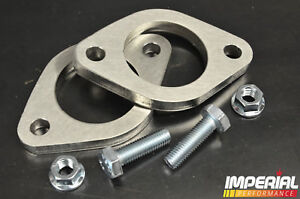 2x 2in/2''/2 inch/51mm EXHAUST FLANGE 2 BOLT stainless steel decat custom system
