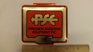 "Vtg PSE Archery Percision Shooting Equipment Metallic  4"" Decal/Sticker"