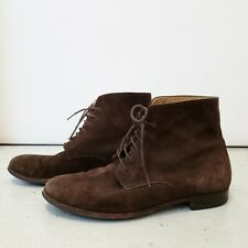 Authentic APC PARIS MENS Brown Suede Chukka Boots H54053 Shoes EUR 45 Sz 11 RARE