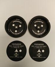 Pioneer PP-220A NAB Large Reel Adapter Hubs & Reel Adjusting Sheets for RT 909