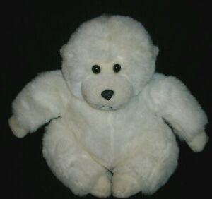 "11"" VINTAGE 1991 FIESTA AMERICA WEGO WHITE MONKEY STUFFED ANIMAL PLUSH TOY APE"