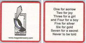 Magpie Brewery Nottingham No.1 Beermat Coaster Bierdeckel Sousbock