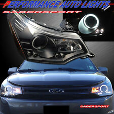 2008-2011 FORD FOCUS CCFL HALO PROJECTOR BLACK HEADLIGHTS w/ LED PARKING PAIR
