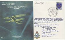 GB Stamps RAF Souvenir Cover Handley Page 0/400, Formation of RAF, signed 1982