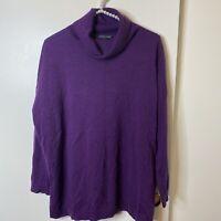 Eileen Fisher M Medium Responsible Wool Turtleneck Sweater NWT Msrp $268