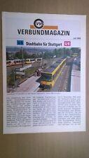 VVS Verbundmagazin Stuttgart -  Juli 1990 (Stadtbahn, Strassenbahn, ...)