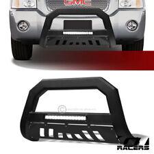 For 2002-2009 Trailblazer/Envoy Matte Blk AVT Aluminum LED Bull Bar Bumper Guard