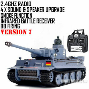 Heng Long Radio Remote Control RC Tank German Tiger I Version 7 with Infrared