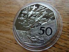 Hermosa 1994 aterrizajes Normandía 50p moneda de prueba en Cápsula