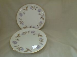 """2 X ROYAL WORCESTER BLUE POPPY 9"""" PLATES MINT UNUSED CONDITION FIRST QUALITY"""