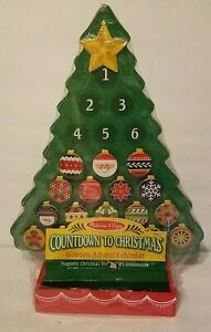 Melissa & Doug Countdown to Christmas Wooden Advent Calendar Magnetic Tree #3571