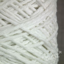 CHUNKY SUPER SOFT OPTIC WHITE PURE COTTON YARN 500g CONE 10 BALL KNIT WEAVE WARP