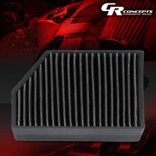 BLACK HI-FLOW PANEL CABIN AIR FILTER FOR 05-18 VW JETTA/GTI/PASSAT AUDI A3/Q3/TT